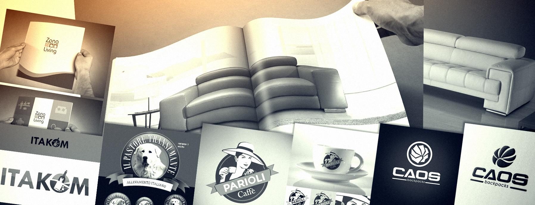 progettazione di immagine  aziendale cataloghi loghi e immagine coordinata